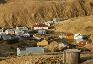 aereo, villaggio, Atka, isola, uno, Aleutian, Isole