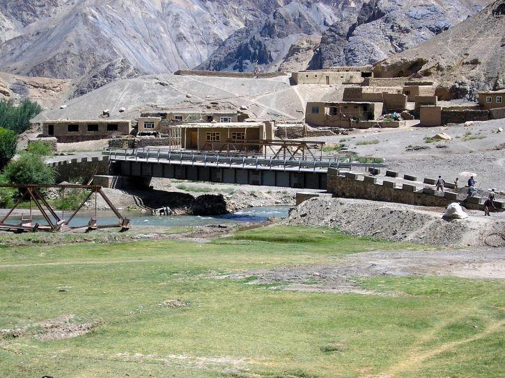 Afghanistans, Infrastruktur, Projekt, Brücke, Bau, Arbeit