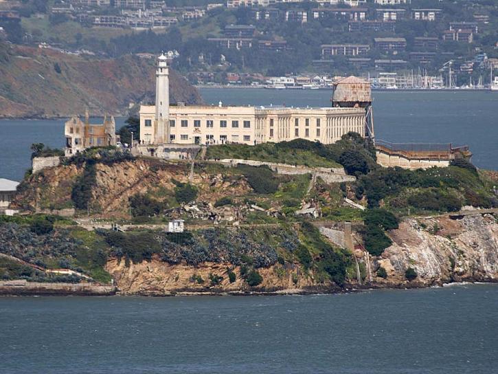 Alcatraz, otok, coit toranj, Francicso
