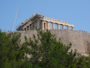 antique, grec, architecture, reconstruction