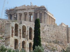 ancient, temple, Parthenon, acropolis, Athens