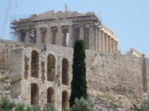 anciens, temple, Parthénon, Acropole, Athènes