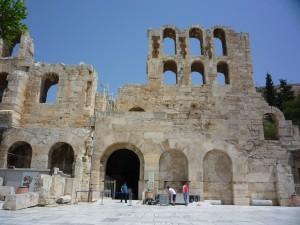antique, grec, temple, bâtiment, athènes