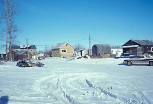 cabins, old, galena, village, Yukon, river