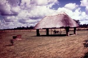 terrain de camping, pique-nique, photographié, la Rhodésie, le Zimbabwe