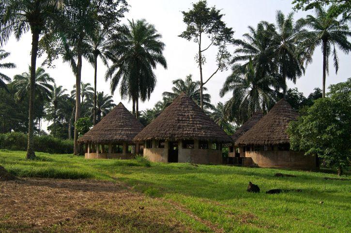 klasserommet, Lusakela, landbruk, stasjon, den demokratiske republikken Kongo, Afrika