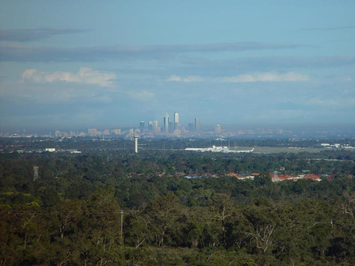Perth, city, distance