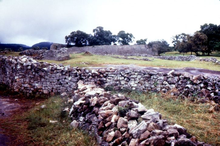 fotografija, godine, stara, velika, Zimbabve, ruševine