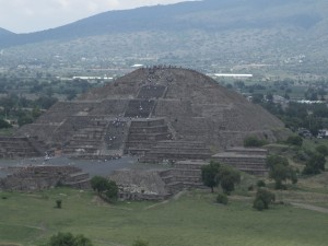 pyramide, Lune, Teotihuacan