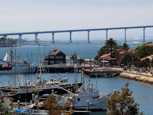 seaport, village, coronado, deck, midway