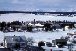 small, town, winter time