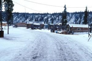 petit village, banque, Koyukuk, rivière