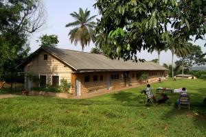laboratóriumi, épület, Lusakela, mezőgazdaság, állomás