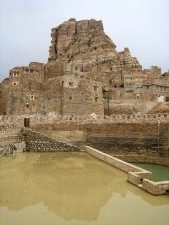 renovated, Jadaan, cistern, Yemen, built, natural, stone, protects, water