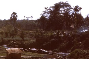 char, øya, distriktet, Romari, nordøst, Bangladesh
