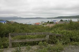 village, sea