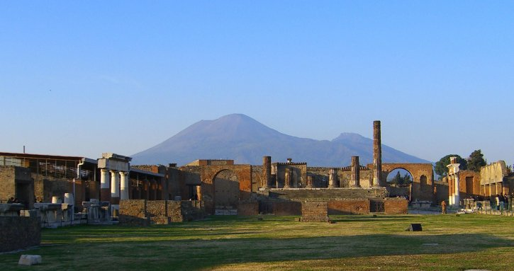 Vesuvius, ruins, Pompeii