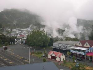 Whakarewarewa, géothermique, secteur