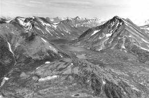 aerial, twin, lakes, Kenai, national, moose, range, Alaska, twin, lakes