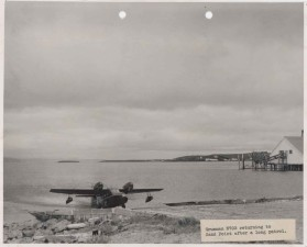 aircraft, waterplane, returning, sand, point