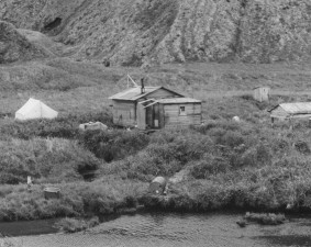 aleut, pescar, acampar, Atka