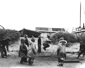 children, play, jump, rope