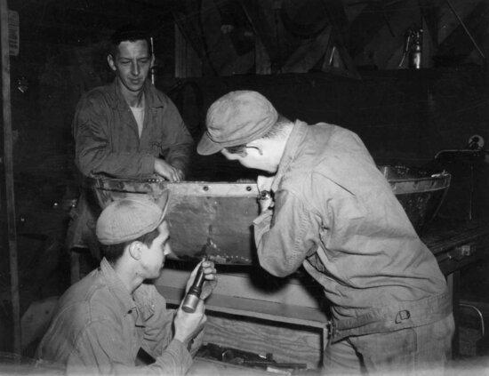 employed, men, work, workshop