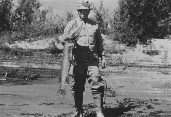 fisherman, vintage, photo