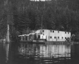 floating, house, water