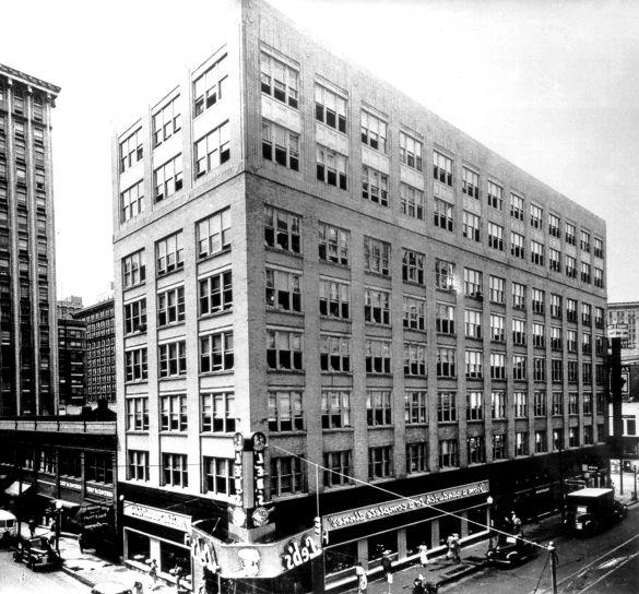 bâtiment, centre-ville, Atlanta, historique, restaurant