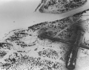 antény, zimné, dediny, Ambler, Aljaška