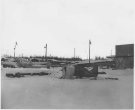 avions, hangar, installations, vieille photo