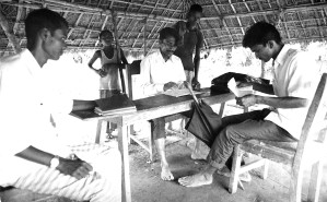 Bangladesh, men, analyzing, collected, data