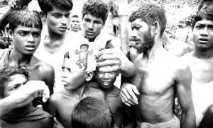 Bangladesh, village, residents, examining