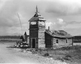 noir et blanc, image, village, bûche, église