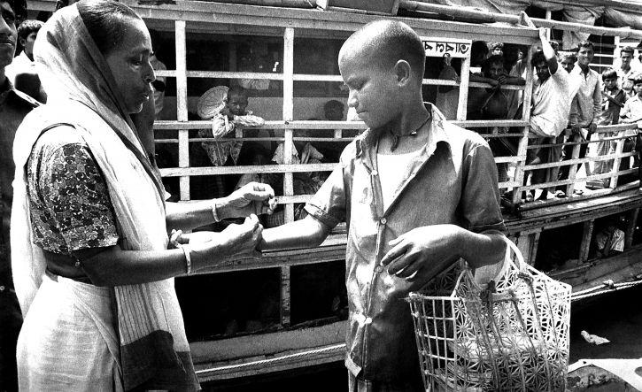 garçon, vacciné, local, bénévole, la variole, l'éradication, l'équipe, membre