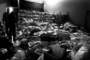 disorganized, records