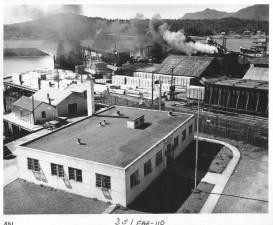 Perikanan, laboratorium, kayu, mill, waterfront, latar belakang
