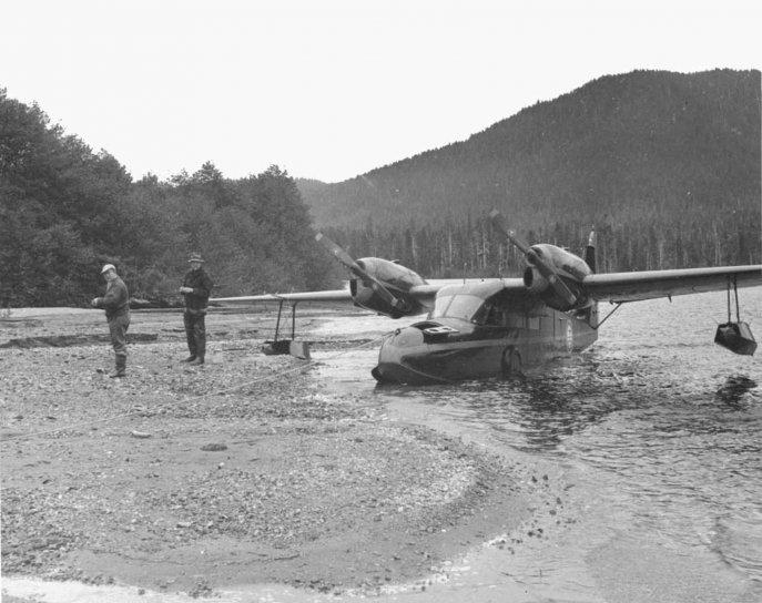 float, dopravy, lietadlo, pobrežie, muži
