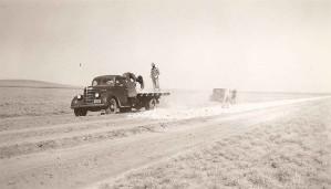 historique, image, route, construction, 20ème, siècle