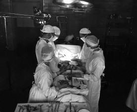 historical, photograph, operating, room, suite, surgical, procedure