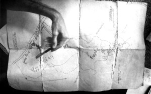 pointing, old, map, vintage, photo