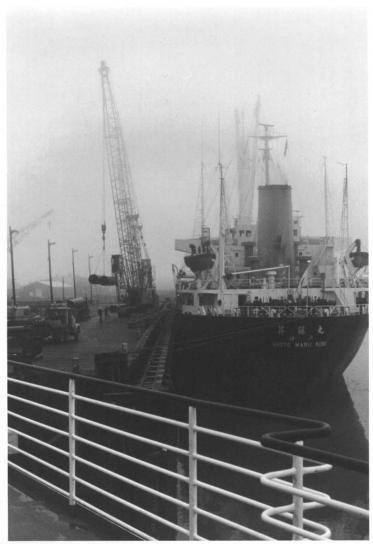 gamle, japansk, fiske, fartøy, skip, gamle, vintage, historcal, fotografi