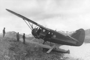 Старый, самолет, самолеты, вода, самолет, побережье
