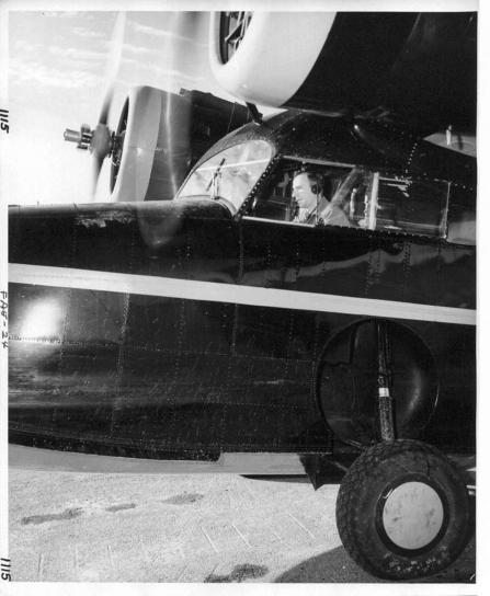 pilotage, avion, vieux, cru, photo