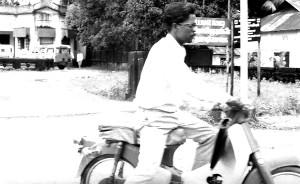 équipe, membre, whod, ce qui, nommé, tours, équitation, moteur, scooter