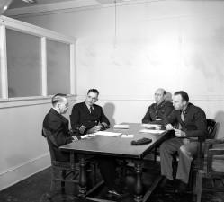 historic, 1945, image, meeting