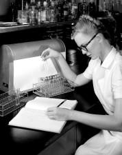 historique, image, laborantin, céphaline, le cholestérol, la floculation, le test