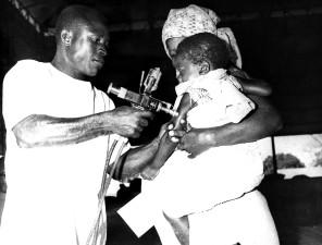 Togo, Kvinna, barn, vaccinerade, smittkoppor