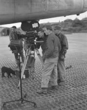 Film, Besatzung, Schießen, Flughafen, Jahrgang, Bild
